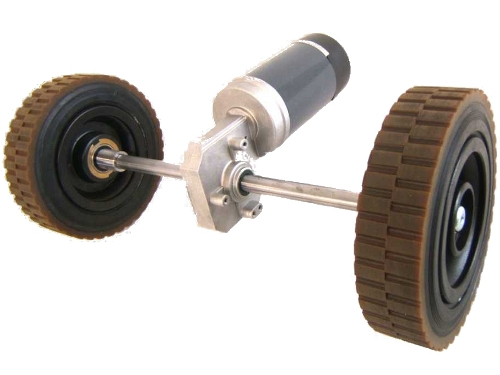 DC Gearmotors orthogonal axes for traction